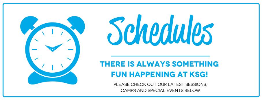 Schedules Page Website Banner