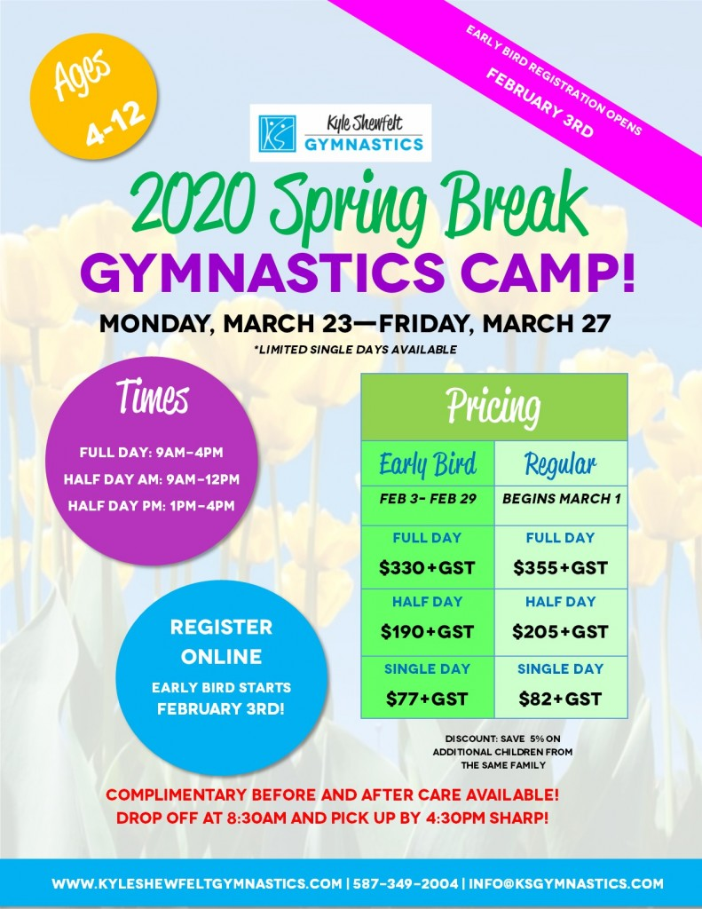 Spring Break Camp 2020 - Poster