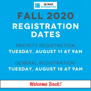 Fall 2020 Registration Dates